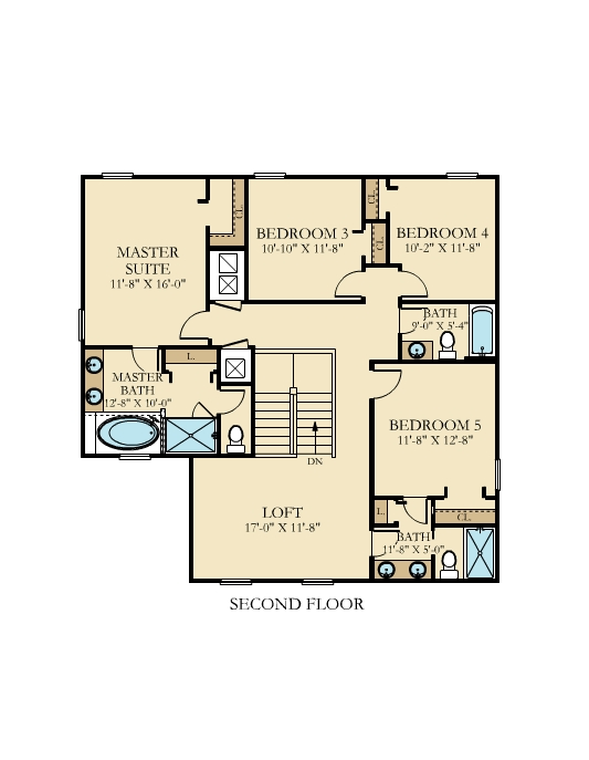 Bali House Floor Plan Level 2 The Retreat at Champions Gate