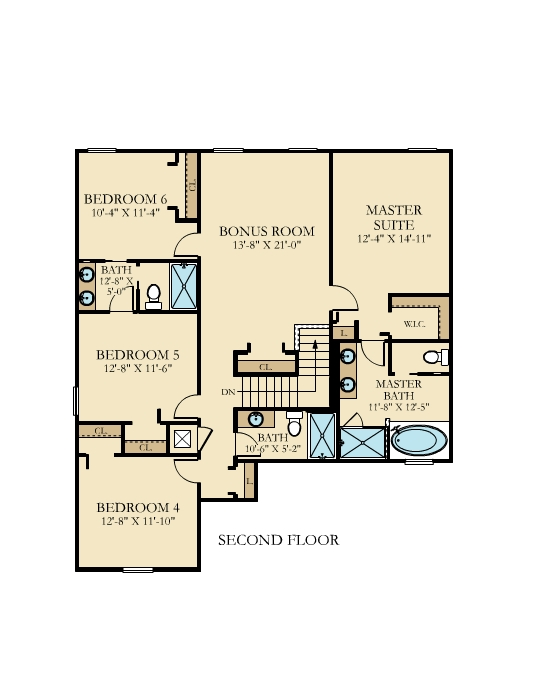 Cayman House Floor Plan Level 2 The Retreat at Champions Gate